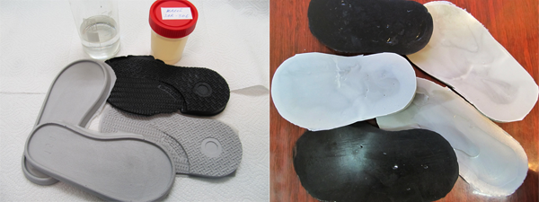 Solvent, enhancing adhesion of polyurethane soles to leather uppers